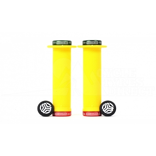 DONUT GRIPS YELLOW LOCK GREEN/RED