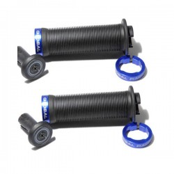 POIGNEES GLOBAL RACING 115MM BLACK/BLUE