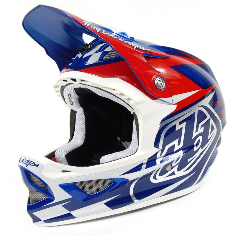 achat 2013 casque d3 team blue white s troy lee designs. Black Bedroom Furniture Sets. Home Design Ideas