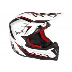 CASQUE CROSS NOEND DEFCON BLANC