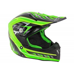 CASQUE CROSS NOEND DEFCON BLACK GREEN L
