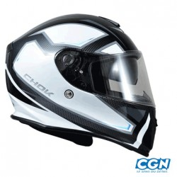 CASQUE INTEGRAL CHOK RZX 16 DOUBLE ECRAN BLANC
