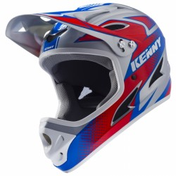 CASQUE KENNY DOWN HILL ROUGE BLEU