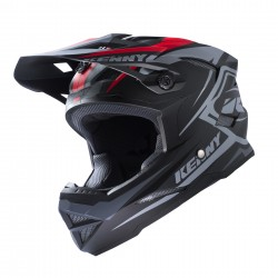 CASQUE KENNY SCRUB GRIS ROUGE TAILLE S