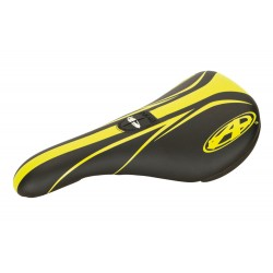 SELLE ANSWER PIVOTAL PRO EMBOSSED NOIR / JAUNE