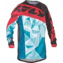 MAILLOT FLY KYNETIC CRUX ROUGE YX KID