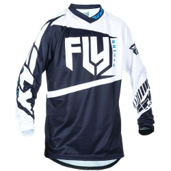 MAILLOT FLY F-16 2017 NOIR/BLANC TAILLE ADULTE : S