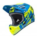 CASQUE DOWN HILL KENNY CYAN / JAUNE
