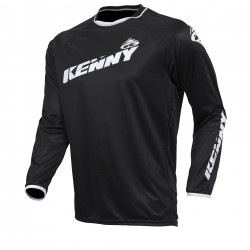 MAILLOT KENNY ELITE NOIR BLANC KID XS