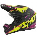 CASQUE SHOT FURIOUS INFINITY ROSE JAUNE