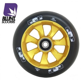 ROUES 7 SPOKES 110MM GOLD BLACK