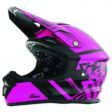 CASQUE SHOT FURIOUS NEON ROSE SM