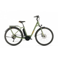 CUBE TOWN SPORT HYBRID PRO 400 GREEN ORANGE 46cm