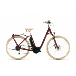 CUBE ELLA RIDE HYBRID 400 RED WHITE EASY ENTRY T:46 2020