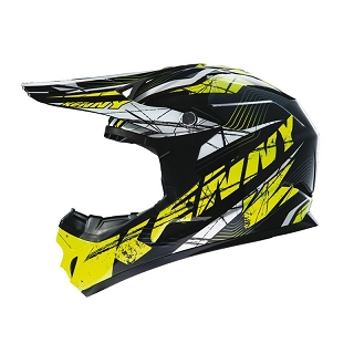 CASQUE DOWN HILL 607 ROCKET NOIR JAUNE S