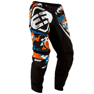 PANTALON KID CAMO NOIR/ORANGE/BLEU 6/7