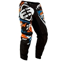 PANTALON SHOT CAMO NOIR/ORANGE/BLEU TAILLE KID 6/7